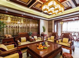 国仕山一期-中式四居-国仕山一期260㎡中式古典装修设计案例