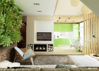 """把绿色""""种""""在墙上"""