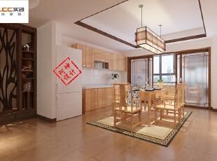 鲁信长乐花园-中式三居-鲁信长乐花园140平三居室装修 新中式风格设计