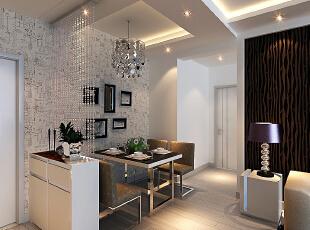 通州万达广场-现代两居-通州万达广场黑白色调两居新房装修