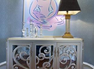 欧式别墅-松江区230平联排别墅欧式风格优雅一面蓝调温柔