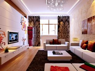 通州万达广场-现代三居-色彩唯美的绚丽小家庭