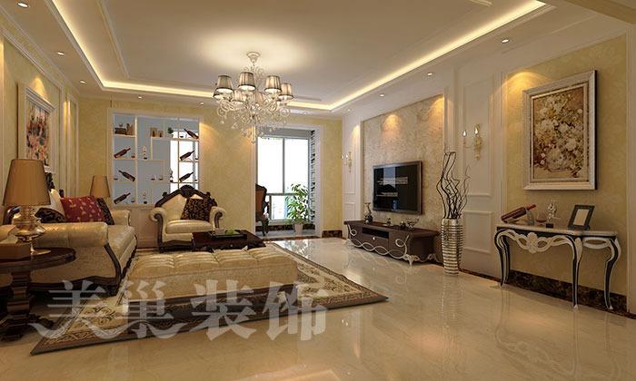 财信圣堤亚纳188四室两厅简欧风格装修效果图,现代简欧风格即拥有了图片