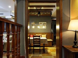 润泽公馆-美式两居-15万装98㎡美式乡村风3室美家!榻榻米书房