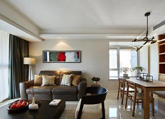 明天华城137平现代简约3居原木设计
