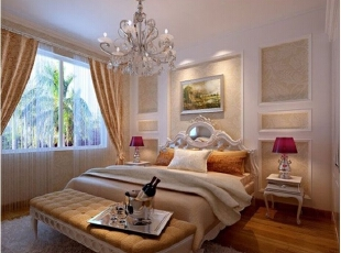 凯通公馆-欧式两居-长沙实创装饰凯通公馆典雅浪漫简欧风格二居室
