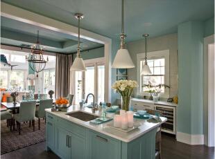 美式厨房装修风格如何?美式厨房装修效果图赏析