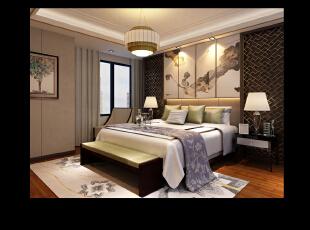 国宝一号-中式复式-金谷样板房-谷居家居装修设计效果图片