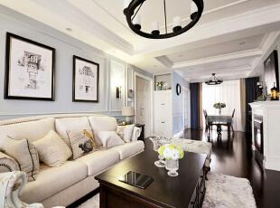 美式风格两居室装修 清新自然的空间