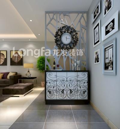 180平米四居装修现代简约风格:门厅,玄关效果图