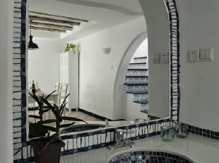 望京国际花园-地中海三居-望京国际花园125平 地中海风格