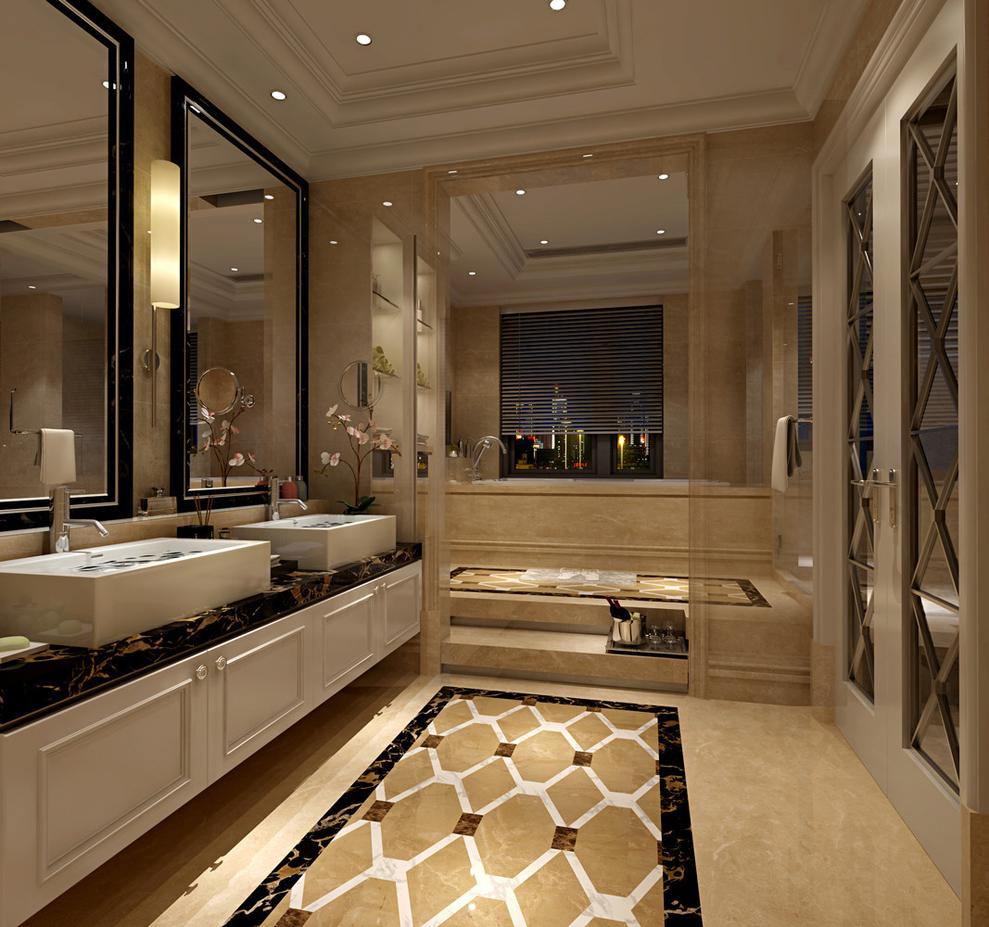 合生城邦别墅户型装修欧式风格设计方案展示——上海聚通装潢最新设计
