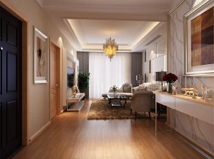 绿地布鲁斯小镇别墅-现代三居-布鲁斯小镇三居室装修现代风格设计!