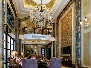 【南昌实创整体家装】-庐山西海古典欧式客厅设计效果