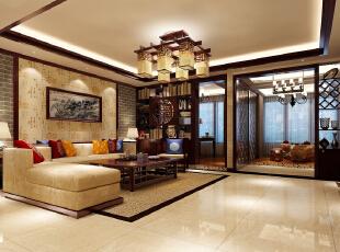 启迪国际小区-中式三居-回归东方文化