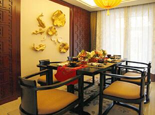 天津大都会-中式四居-天津大都会中式风格设计