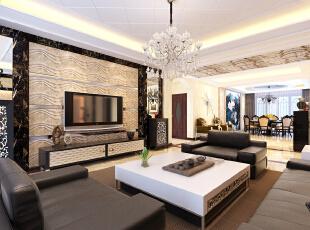天越湾-中式三居-天越湾280平三居室中式风格装修