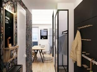 这间小公寓选择的黑白方案条理分明,不仅没有降低它的格调反而流露着低调的奢华。