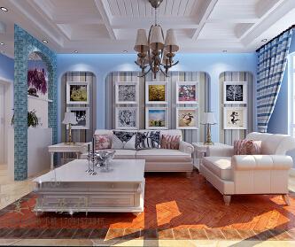 风情蓝白、浪漫两居室。