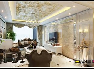 ,180平,55万,欧式,三居,客厅,白色,