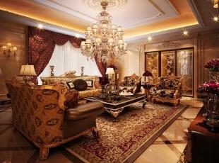 西山一号-欧式大户型-西山一号别墅A1户型420平欧式大宅风格装修设计案例~