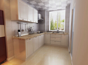 【南昌实创整体家装】方大上上城-现代简约风格厨房设计效果