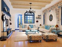 山水生态城135平三居室现代简约风格效果图