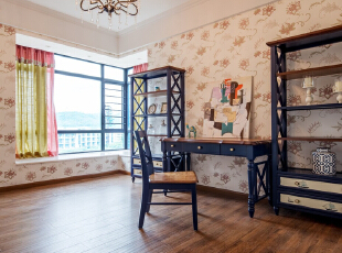 东莞理工学院城市学院教师公寓-美式四居-昊然设计