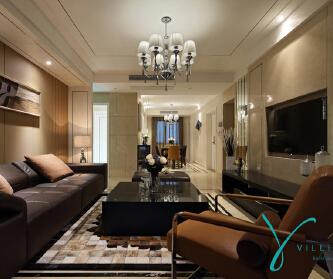 苏州145平公寓现代奢华...
