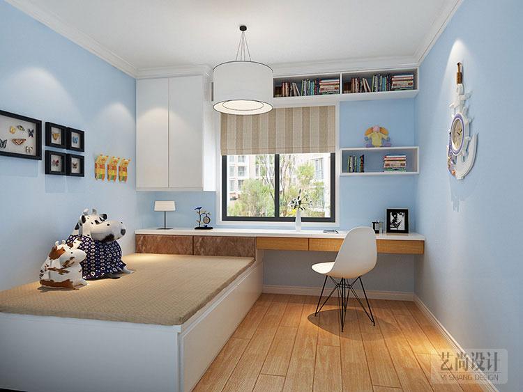 民安北郡i-3户型三室两厅样板间装修案例---儿童房简欧风格装修效果图