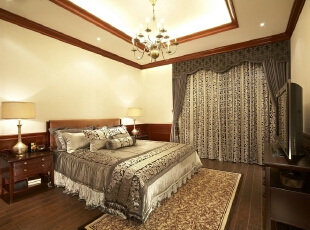 欧式风格老人房,别墅软装设计图片