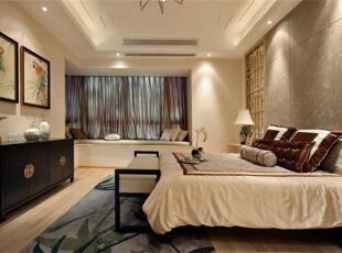 锦地翰城-中式三居-新中式装修案例
