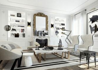 纯洁白色系简约家居 如何做出高端住宅设计感