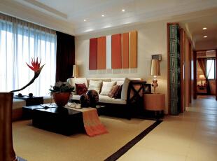 山水文园五期-宜家三居-山水文园东南亚风格装修设计案例