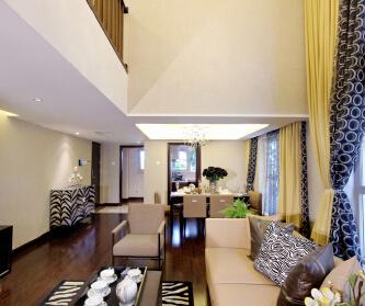 林肯公寓现代简约装修设计...