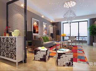 博瑞花园142平现代简约风格3室2厅样板房装修案例--客厅装修效果图,142平,16万,现代,三居,客厅,