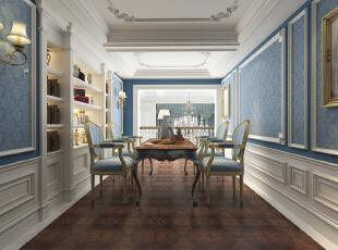 ,315.0平,75.0万,欧式,复式,书房,蓝色,白色,原木色,