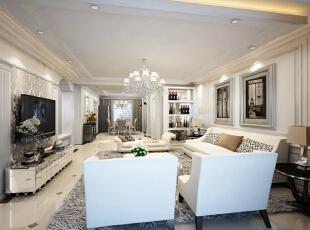 ,142平,16万,欧式,三居,玄关,客厅,餐厅,卧室,厨房,书房,白色,