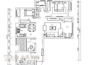 财信圣堤亚纳平层125平四室两厅装修户型图,125平,8万,现代,四居,