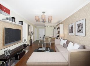 ,89平,8万,两居,现代,客厅,白色,