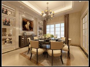,280平,45万,现代,别墅,餐厅,黄色,