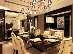 ,175平,20万,欧式,四居,餐厅,黑白,