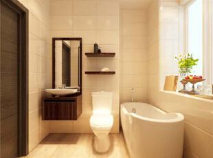 设计理念:小空间大利用 亮点:主卧与次卧之间墙体的稍微改动使原本狭隘的空间放浴缸不再是梦想。,130平,11万,现代,三居,卫生间,黄色,