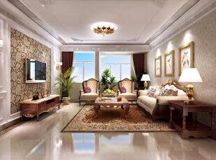 ,180平,12万,三居,欧式,客厅,原木色,