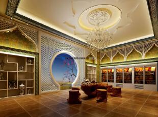 伊斯兰会所600平方中式风格装修效果图,600平,30万,中式,公装,
