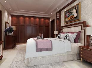 ,190.0平,15.0万,三居,美式,卧室,白色,原木色,
