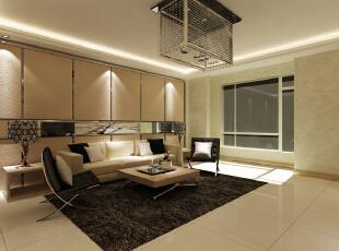 ,180平,8万,现代,三居,客厅,黄色,