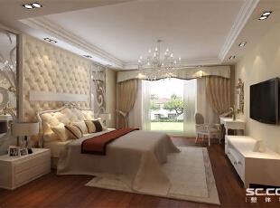 对于现代社会的简约风格来讲,它的外形简单,功能强,强调室内空间形态和屋捡的单一性以及抽象性。所以我们看到的现代简约风格都非常简洁,大气,自然,软包装饰。 亮点;卧室简单的在床对面铺了一面壁纸,是卧室感觉不单调,从而更大气,温馨。,96平,7万,欧式,两居,