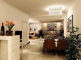 餐厅运用的也是棕色系的皮制沙发,190平,35万,现代,四居,