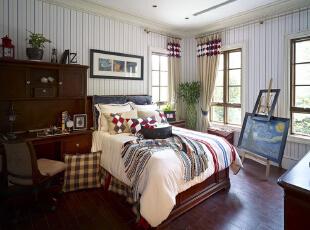 紫禁尚品国际装饰—儿童房 可以减少欧式风格的华丽感,但却依然可以感受到欧式风格的优雅与高贵,简洁大方 略带一点点小小的贵族奢华气息,378平,67万,欧式,别墅,白色,红色,